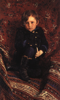 Portrait Y.I. Repin, the artist's son, in childhood