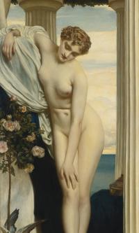 Venus strips before bathing