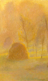 In autumn haze