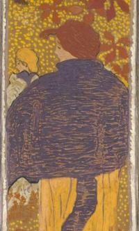 """The woman in pureline (series ""Women in the garden"")"""