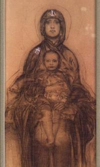 Богородица с Младенцем (эскиз для иконостаса Кирилловской церкви в Киеве)