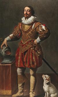 Портрет господина с собакой