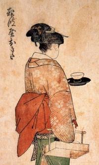 Окита - девушка из чайной