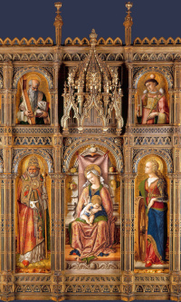 The Central altar of San Domenico in Ascoli (the Altar Demidov), a polyptych