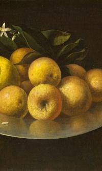 Натюрморт с винным бокалом, фруктами и кувшином