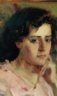 """""""Портрет Ирины"""",1957г., к./м., 32,5х33,5"""