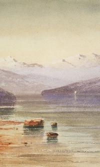 Горное озеро. Швейцария