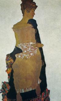 Портрет Гертруды Шиле, сестры художника