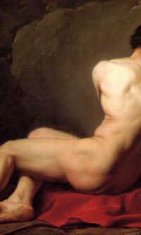 Сидящий обнаженный. Эскиз для изображения Патрокла