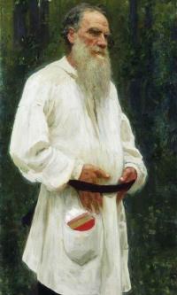 Лев Николаевич Толстой босой