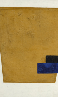 Suprematist composition with the strip in the projection
