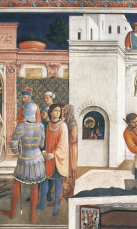 Condemnation of St. Lawrence by the Emperor Valerian. The Martyrdom of St. Lawrence. 1447-1449