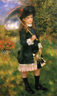 Girl with parasol (Aline, nuns)