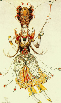 "Costume design for the ballet ""The Firebird"""