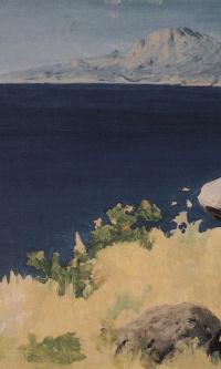 A sea shore. Crimea