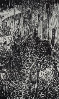 "Street. Illustration to the book ""Samarkand"""