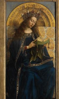 The Ghent altarpiece. The virgin (fragment)