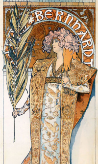 "The poster for the play ""Gismonda"" with Sarah Bernhardt"