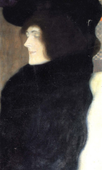 Portrait of a lady with a pale face