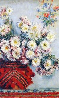 Vase with chrysanthemums