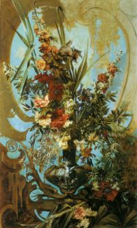 Декоративный букет цветов