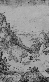 Landscape with a castle on a cliff