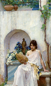 Flora in a white dress