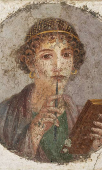 Portrait of a young girl (Portrait of the poetess Sappho?)