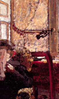 Madame Vuillard reading the newspaper