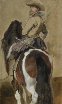 Эскиз коня и всадника
