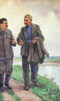 И.В.Сталин и А.М.Горький на прогулке. 1948