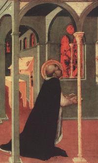 Святой Фома молящийся перед крестом