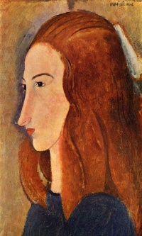 Portrait of a young woman (Profile of Jeanne hébuterne)