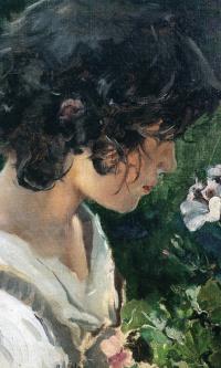 Итальянская девочка с цветами
