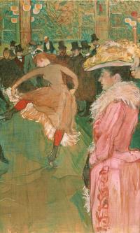 В Мулен Руж: танец