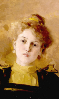 Portrait of a young woman. 1890s
