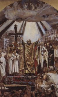 Крещение Руси. Подготовительная композиция росписи Владимирского собора в Киеве