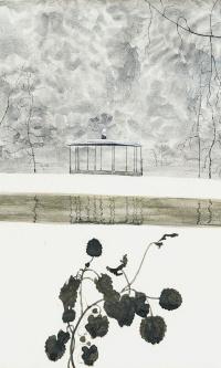 Snowy Landscape, Ivy and Kiosk (Paysage de neige, lierre et kiosque), 1915