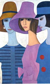 Три дамы в шляпах
