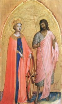 Saint Catherine and John the Baptist. Around 1421-1422