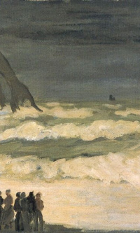 Stormy sea in étretat
