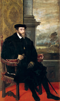Portrait of Emperor Charles V in the armchair