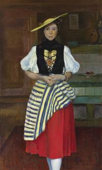 Портрет молодой женщины в национальном костюме