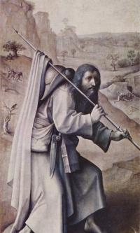 Святой Иаков Великий. Триптих Страшный суд. Левая внешняя створка