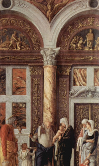 The altar of the Palace chapel of the Duke of Mantua, scene: the Circumcision of Christ