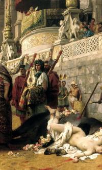 Christian Dirtee in the circus of Nero