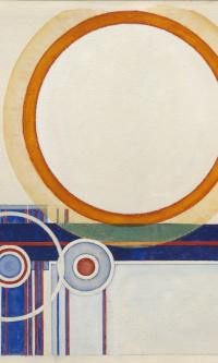 The orange circle