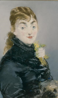 Portrait of Méry Laurent with a Pug