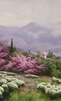 Spring in Crimea (Yalta. Iudino tree in bloom). State Russian Museum, St. Petersburg