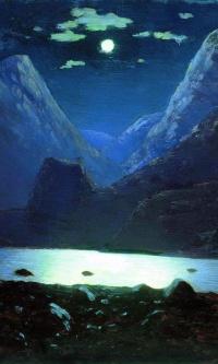 Дарьяльское ущелье. Лунная ночь